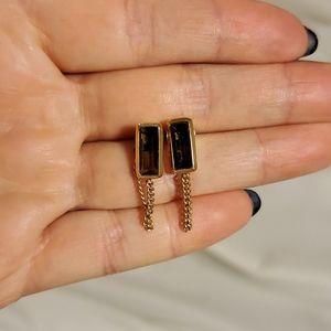 Michael Kors drop chain earrings